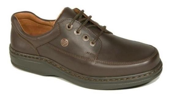 Zapato Cavatini Acordonado Liso Flor Chocolate-70-3722