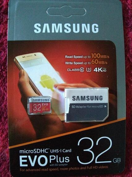 Cartão Memória Evo Plus 32gb U3 100 Mb/s Class10 4k Ultra Hd