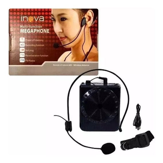 Rádio Megaphone Speaker Multifunções K150 Professor Vendedor