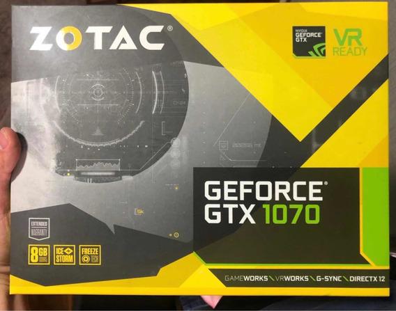 Placa De Vídeo Gtx 1070 Zotac 8gb Gddr5