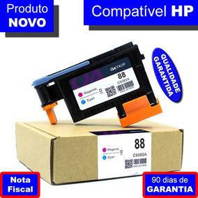 Cabeça Hp 88 C9381a Preto E Amarelo C9382a Magenta E Ciano
