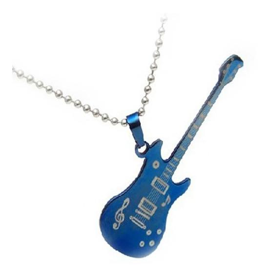 Collar Y Dije Guitarra. De Titanio.