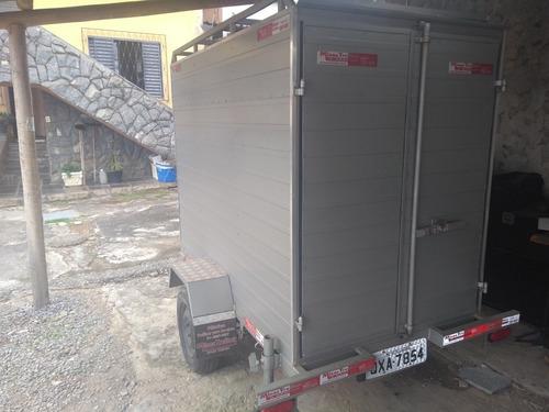 Carretinha Baú Em Alumínio, 1eixo Reforçada P/ 1ton - Zerada
