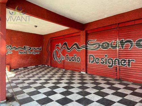 Salão Para Alugar, 268 M² Por R$ 5.000,00/mês - Vila São Jorge - Suzano/sp - Sl0095