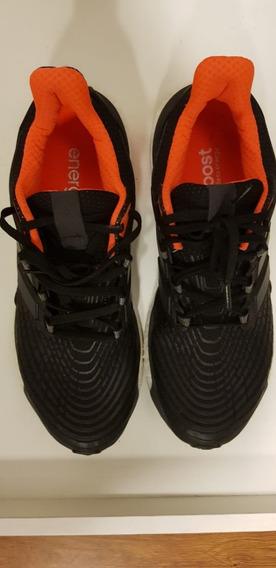 Tênis adidas Boost 42 Preto E Laranja Para Corrida