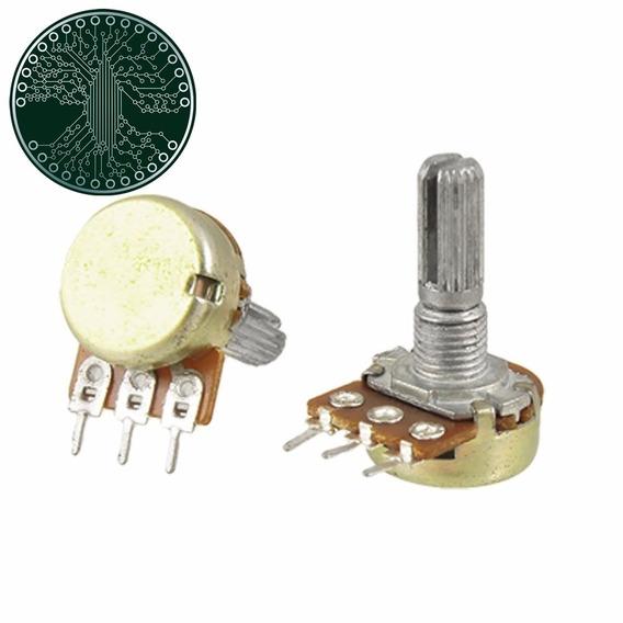 Kit 50 Potenciômetro 10k Linear Com Eixo L20 Estriado