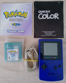 Nintendo Game Boy Color Gbc + Pokemon Crystal + Cabo+manuais