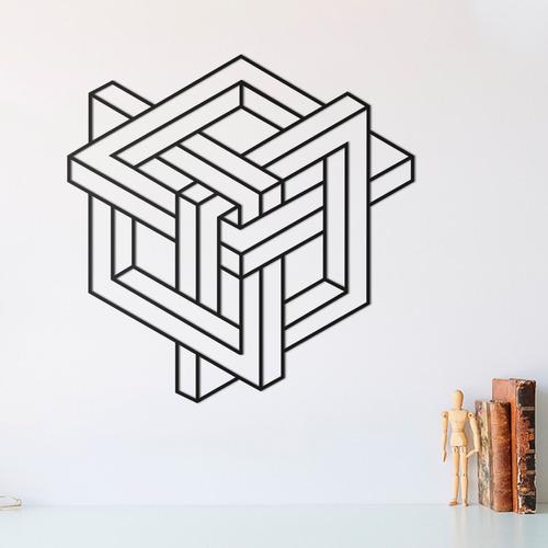 Quadro Decorativo Parede Diversos Ilusão De Óptica 02 30cm