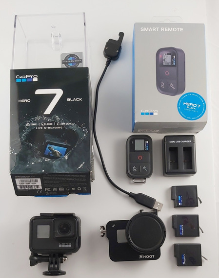 Camera Gopro Hero 7 Black + Controle Remoto + 3 Bat + Case