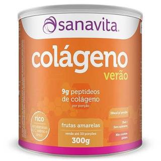 Colágeno Hidrolisado Sanavita Ed. Verão Frutas Amarelas 300g