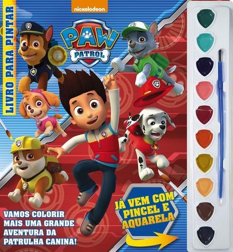 Livro Infantil Para Colorir Com Aquarela Patrulha Canina
