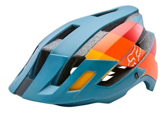 Capacete Fox Bike Flux Matte Azul S2r