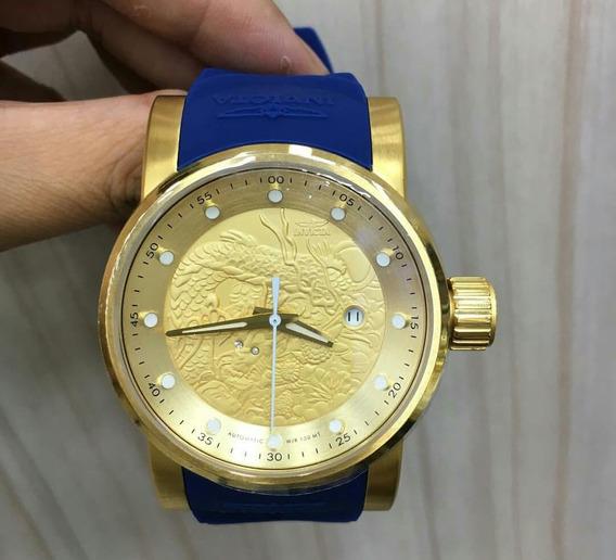 Relógio Yakuza Original Banhado À Ouro 18k