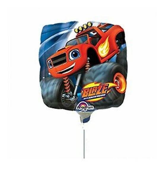 6 Globos Blaze Monster Machines Centro Mesa 9in Fiesta Carro