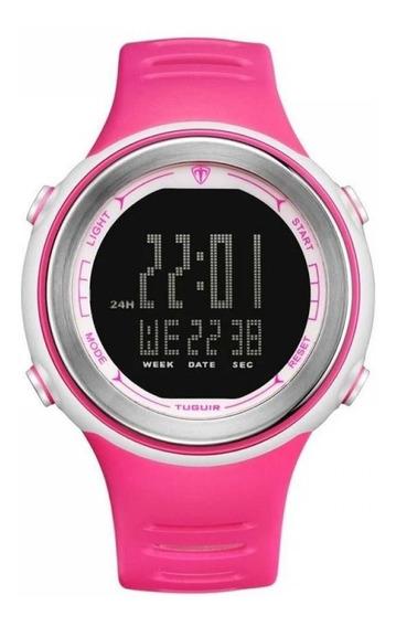 Relógio Feminino Esportivo Tuguir Digital Rosa - Academia