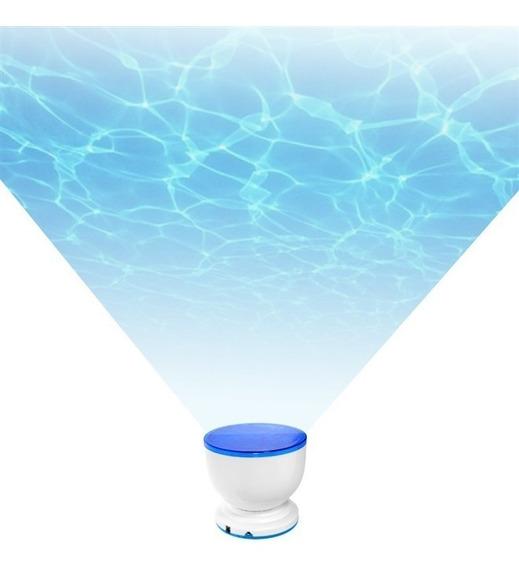 Projetor De Oceano Relaxante Led Alto-falante E Entrada Aux