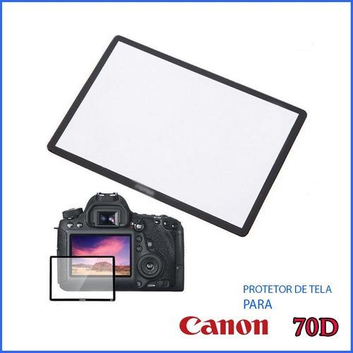 Protetor Proteção Tela Lcd Vidr Optic Camer Maq Canon 70d