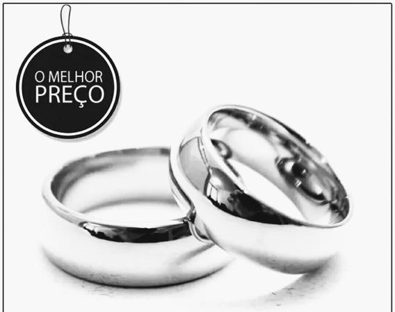 Par Alianças Folheado Em Prata 925+anel De Brinde