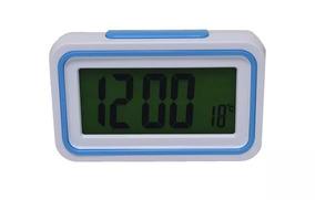 Relógio De Mesa Idoso Que Fala Hora Deficiente Visual Azul