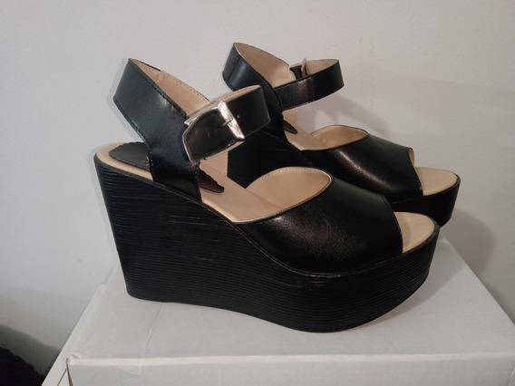 Sandalia Negra Pink N° 38