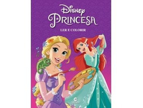 Livro Ler E Colorir Culturama Gigante - Princesas Disney