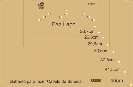 Gabarito Para Fazer Cabelos De Bonecas 88889 Brinde Faz Laço