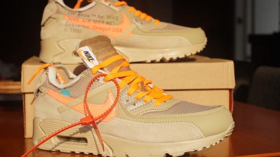 Sneaker Nike Airmax 90 Desert Ore Offwhite Off White Tenis
