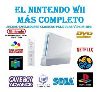 Nintendo Wii Con El Más Avanzado Chip 2020 + 20 Juegos!!!