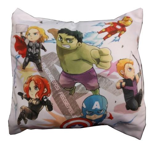 Almohadón De Comics Avengers Hulk Thor Iron Man Capitan Amer