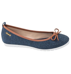 Zapatos Ballerina Casual Pepe Jeans Tex Dama Azul Udt 7657g