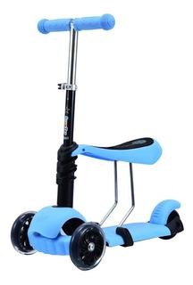 Monopatin Scooter 3 En 1 Aluminio Con Asiento Alturas Love