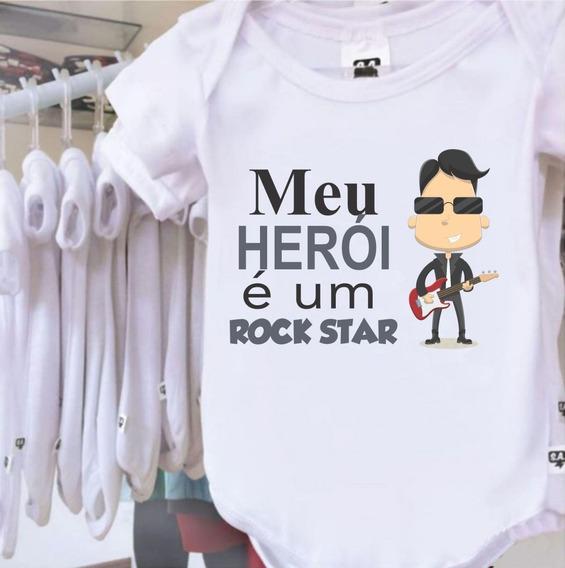 Body Bebê Profissões Cantor Rock Star Tal Pai Filho(a)