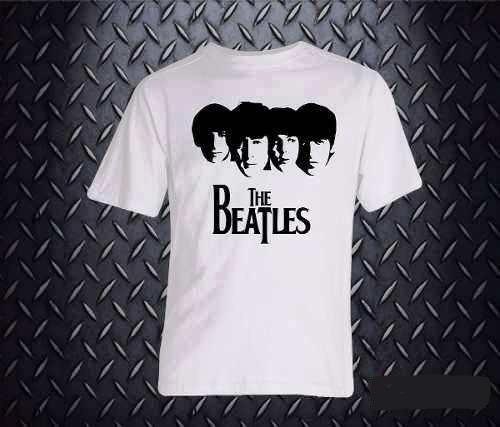 Remera The Beatles Manga Corta Jean Camisa Media