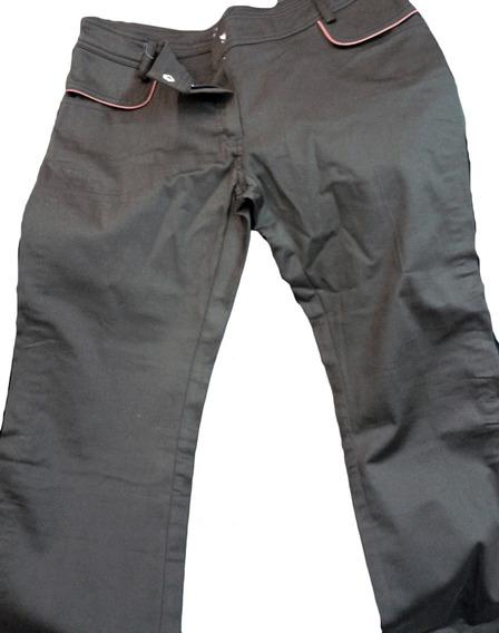 Pantalon Coton Saten Con Vivos Nja. Bershka. Nuevo!!! (216)
