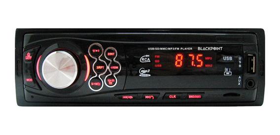 Estéreo para auto Black Point X-22 con USB, bluetooth y lector de tarjeta SD