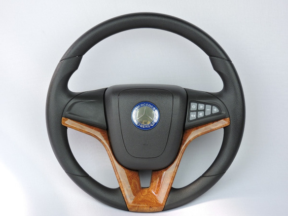 Volante Esportivo Cruze Madeira Comando De Som Mercedes Benz
