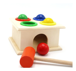 Caja Martillo Montessori Juguete Madera Didáctico Kidsgrow