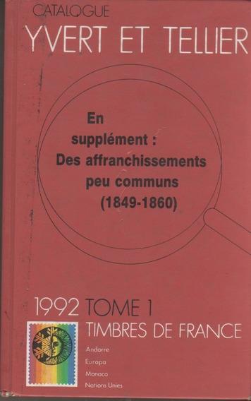 Catalogo De Sellos Postales Yvert De ** Francia** Año 1992