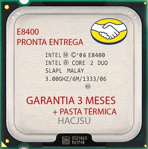 Imagem 1 de 10 de 3 E8400 Processador Cpu Intel Core 2 Duo Lga775 1333 Usado