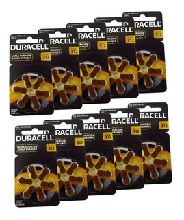 Pack 60 Duracell Activair 312 Batería Audífonos - Todopilas