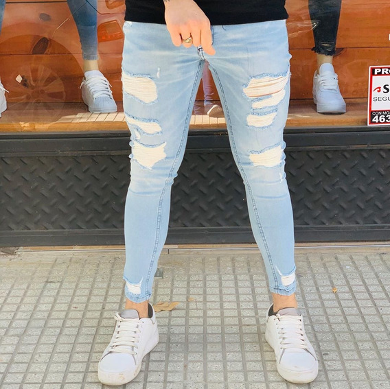 Jeans Pantalón Chupín Slim Fit Claro