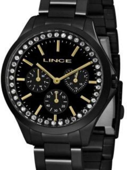 Relógio Lince Preto Analógico Feminino Aço Lmnh117l P1px