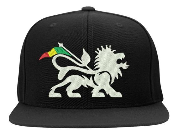 Boné Bordado - Leao Judah Jah Rastafari Reggae Bob Jamaica