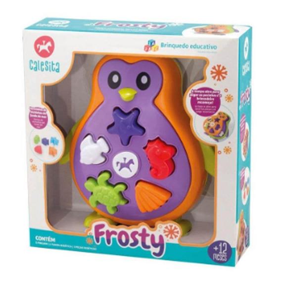 Pinguim Frosty Brinquedo Educativo Didático - Calesita