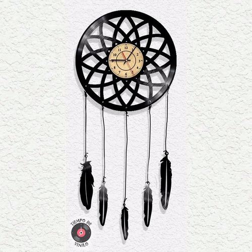 Reloj De Pared Ref. Atrapasueños Elaborado En Disco De Lp