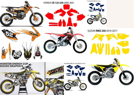 Pack Templates Vectores Plantilla Para Motos, Quads ,atv