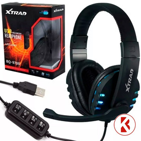 Headset Usb Gamer Digital Xtrad Preto