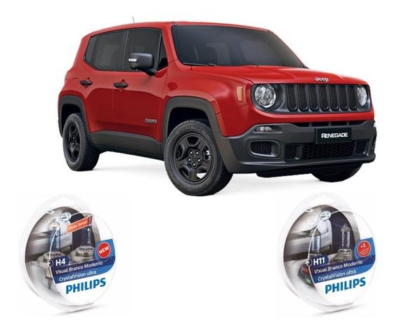 Kit Lâmpadas Super Brancas Philips Jeep Renegade