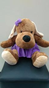Boneco De Pelucia Cadela Com Vestido 50cm Disney Presente