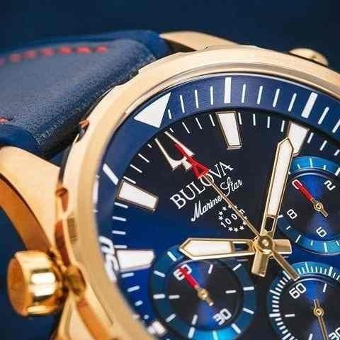 Relógio Bulova Marine Star Chronograph 97b168 Original